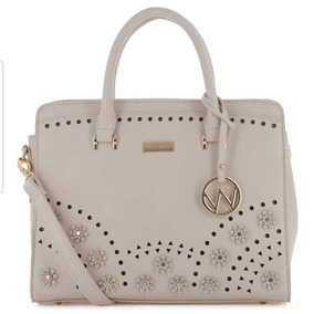 Bolsa De Dama 100% Original Westies Satchel Relieve, Beige