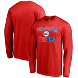 Philadelphia 76ers Red Victory Arch Long Sleeve T-shirt
