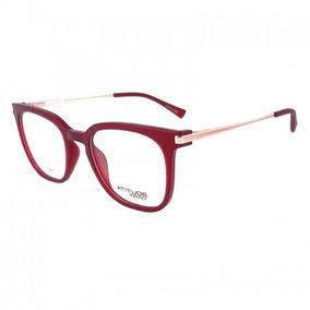 Armação De Óculos Feminino Atitude Vermelho - Óculos no Mercado ... 364c4b12ef
