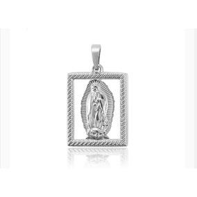 Medalla Virgen Guadalupe Oro Laminado Blanco 18k Garantizado