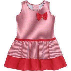 Vestido Infantil Para Bebês Estampa Marinheira