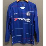 6aaac3c720bd4 Camisa Do Chelsea 2018 Manga Longa - Futebol no Mercado Livre Brasil