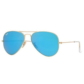 Óculos Ray Ban 3025 112 17 Lente Azul Espelhado Armação Gold ... 6701d76c89