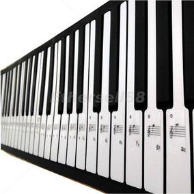 Etiquetas De Notas P/ Piano Teclados Órgão Iniciantes Estudo