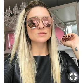 Óculos Redondo Espelhado Rosa Blogueira - Óculos no Mercado Livre Brasil 2c84989572