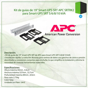 Kit De Rack Guias Apc Srtrk2 Smart-ups