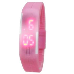 Relógio Digital De Silicone Jelly Elegante