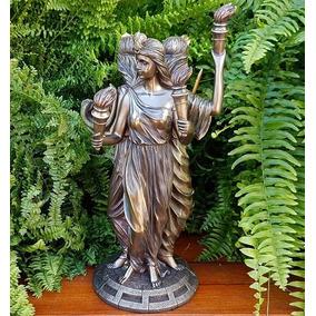 Escultura Griega De La Magia Celta Hécate Triple Diosa Wicca