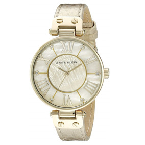 Reloj Anne Klein Modelo Ak1012 Correa Cuero Nuevo