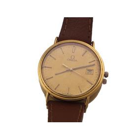Relógio De Pulso Omega Todo Em Ouro 750 C/ Calendario J12616