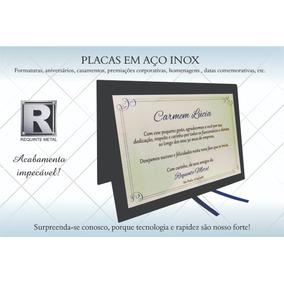 Placa Homenagem /formatura Aço Inox Capa De Livro 17x12cm
