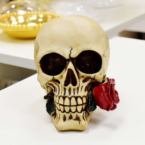 Caveira Cranio De Resina Miniatura - Miniaturas no Mercado Livre Brasil 182abd2f84a