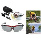 Oculos Esportivo 5 Lentes-polarizado Rockbros + Jaqueta Xl