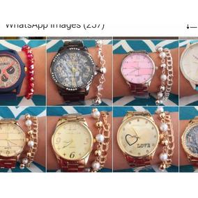 303ea47eba3 Relógio Feminino Euro Caixa De Acrilico - Relógios De Pulso no ...