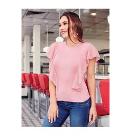 9a419abc7 Blusa Con Escarola - Blusas de Mujer en Mercado Libre México