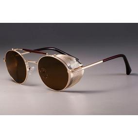 3d83af6b06619 Oculos Com A Lateral Dourada De Sol - Óculos no Mercado Livre Brasil
