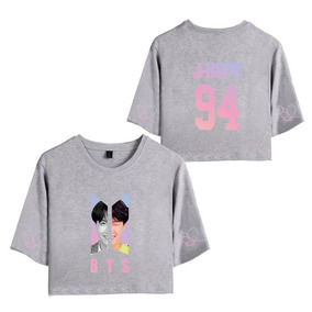 Camiseta Básica Cropped Feminina Bts J-hope 94 E78 60a97f44f74