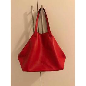 Bolsa Carolina Herrera Couro Vermelho - Calçados, Roupas e Bolsas no ... 7c753b214e