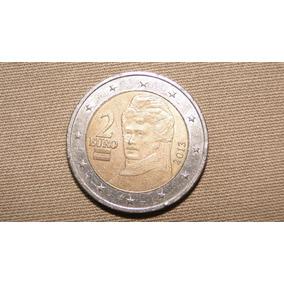 Moeda Belíssima De Dois Euros Da Áustria