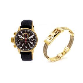 Relogio Invicta 1515 Original Gold Mais Bracelete Inox