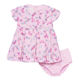 Vestido Rosa Para Bebe Tamanho P (6 Meses A 1 Ano) - Vestidos de ... 4fc4b3f5a77d