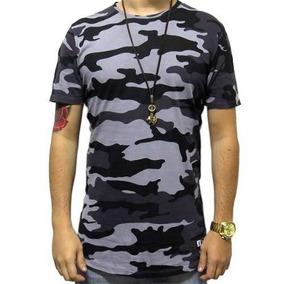 Camiseta Masculina Swag Camuflada Gola Normal Pronta Entrega ab91ef47832