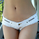 High Cut Sexy Denim Booty Short Bikini Caliente Pantie Jeans