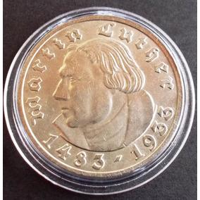 Alemanha-moeda 5 Mark-martinho Lutero-1933-prata 900-letra A