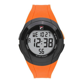 Relógio Fila Digital Masculino Laranja Original