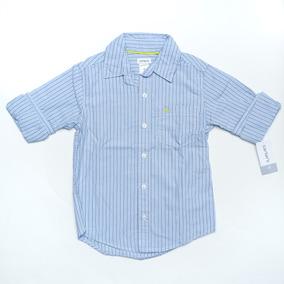 Camisa Azul De Rayas Para Niños 4 Años Carters Gratis