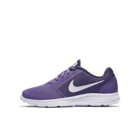 Tenis Nike Revolution 3 Lila Dama Con Caja