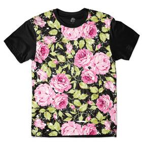 Camisa Camiseta Flower Floral Flores Rosa Full Print Tumblr. R  42 2e6c7cf8fa1