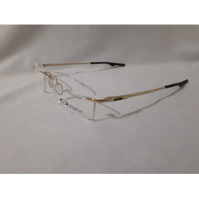 0fb7e40a23803 Armacao De Oculos Para Descanso - Óculos Dourado no Mercado Livre Brasil