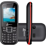 Celular Lenoxx Cx-903 Dual Chip, Bluetooth, Preto/vermelho