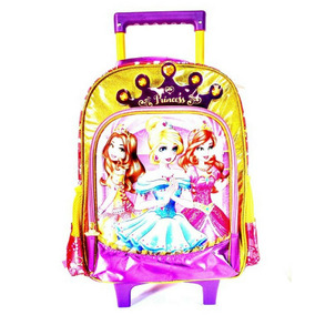 Mochila Infantil Escolar Feminina 3 Princesas