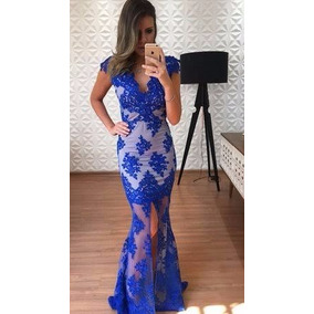 Vestido Renda Tule Bordado Festa Formatura Madrinha - Vestidos De ... b1b019d011