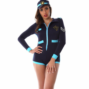 Disfraz Sexy Para Dama De Policia Body Manga Larga Boina 86f0f1ccb42