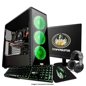 Pc Completo Gamer Com Monitor 19.5 Wide ! + 30 Jogos! Nfe