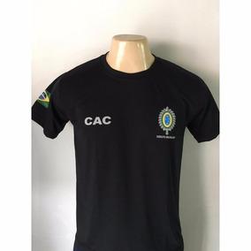 Camiseta Atirador Cac Exercito Brasileiro Preta Original
