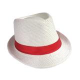 Chapéu Panamá Com Fita Vermelha Aba Normal Malandrinho d695e90ccd8