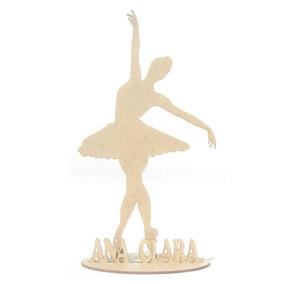 35 Lembrancinha Bailarina Mdf Personalizada Centro De Mesa