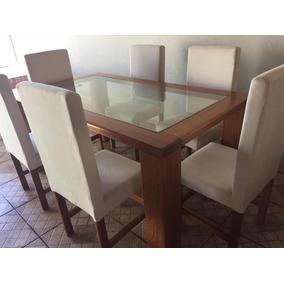 Mesa De Jantar Com 6 Cadeira (usada)