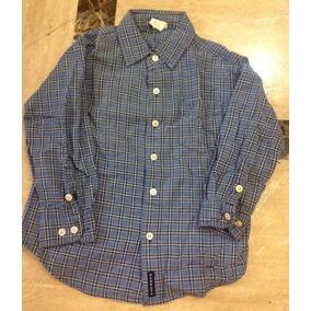 Camisa Azul A Cuadros Para Niño 4  5 Old Navy Manga Larga 5fd8aafdb5404