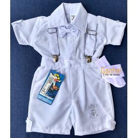 Batizado Menino Camisa C  Grav. Bermuda Suspens. 506 a3c80959a1327