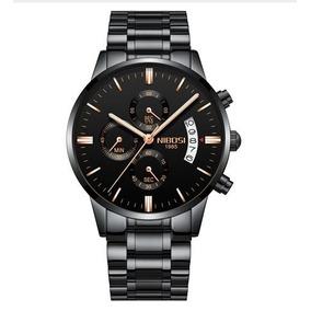 Relógio Masculino Luxo Esportivo Pulseira Metal - Importado