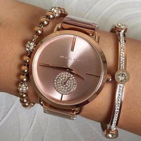 Relógio Michael Kors Mk3640 Feminino 37 Mm Dourado - Relógios De ... dc40384409