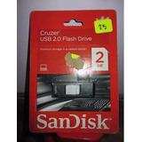 Usb Flash Driver De 2 Gb Sand Disk Cruzer Glide Importado
