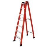 Escada De Fibra Americana Estendida Worker