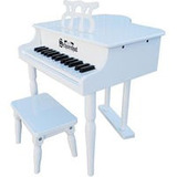 Piano Infantil Schoenhut 30 Key Gloss White Baby Grand Piano