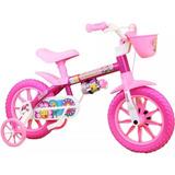 Bicicletinha Bicicleta Infantil Flower Menina Aro 12 Nathor